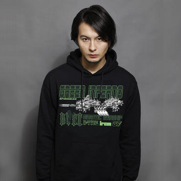 【R-TYPE 】「GREEN INFERNO」 Hooded Sweatshirt