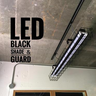 【B-2LG】2灯  ガード付き  LEDライト  つや消しブラック