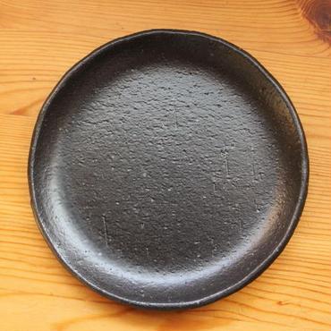 GARAGE MADE限定色 hinomigama 黒釉 丸皿4