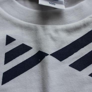 だまし蝶ネクタイ Tシャツ WHITE×NAVY