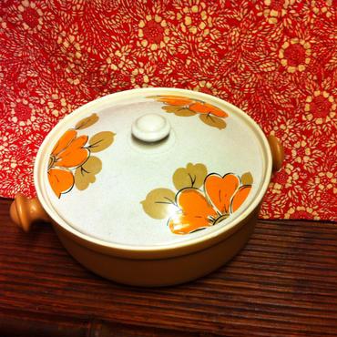 花柄の土鍋