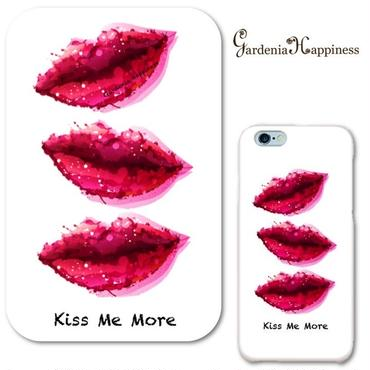 スマホケースAICA-34 リップスKiss Me More iPhone5/5s/5c/SE/6/6s/Android
