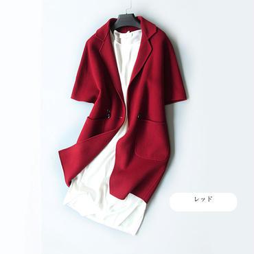 【残りわずか】エレガント ウール半袖コート5色 118