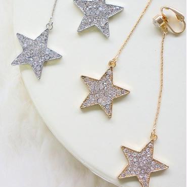 Glitter Star ロングピアス&イヤリング  2Color