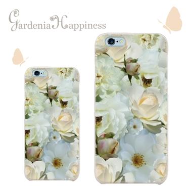 スマホケースAICA-12 ホワイトローズフィールドiPhone5/5s/5c/6/6s/Android