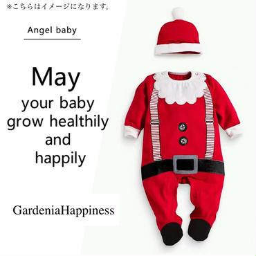 ベビークリスマスサンタクロースロンパース 70-100/2色