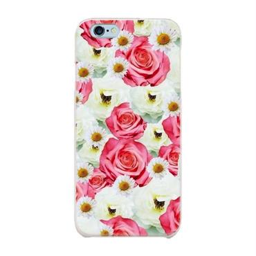 スマホケースAICA-44 フェアリーローズ×マーガレット  Pink iPhone5/5s/SE/5c/6/6s/Android