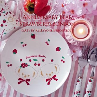 【セット割引4枚セット】Anniversary Bear StrawberryBonbom転写紙 2種×2枚の4枚セット