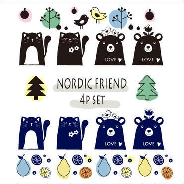 【期間限定】【4枚セット】NORDIC FRIEND転写紙★4種×1枚ずつの4枚セット¥3120→