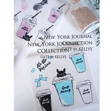 1枚¥1350!【セット割引4枚セット】NY Journal転写紙 2色2枚ずつの4枚セット