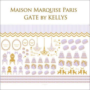 【単品】A3サイズ★Maison Marquise Paris転写紙 ベビーリラ