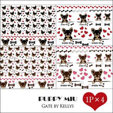 【セット割引★4枚セット】PUPPY MIU転写紙/全種&全色×1枚の合計4枚セット
