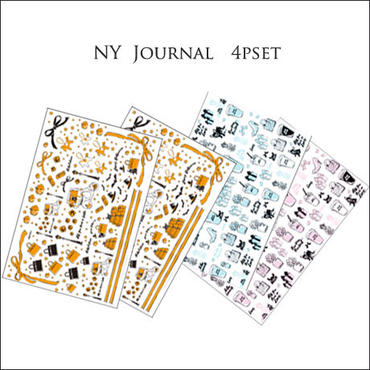 1枚@1350【セット割引4枚セット】NYJournal シリーズ転写紙セット★新作2枚+2枚