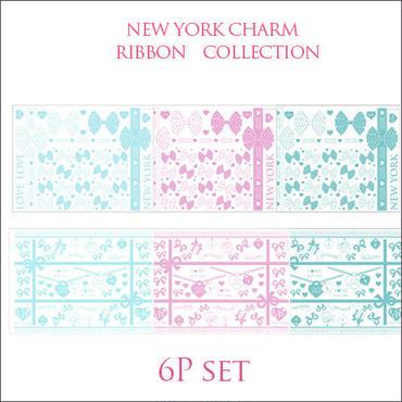【ガラス用】RIBBON COLLECTION転写紙■リボン全6種1枚ずつの6枚セット¥6300→
