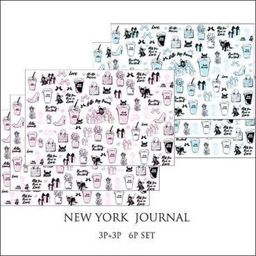 【限定価格・6枚セット】NY Journal転写紙 2色3枚ずつの6枚セット