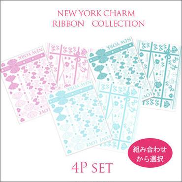 8/25まで【ガラス用】RIBBON COLLECTION転写紙■カラーが選べる4枚セット¥4200→