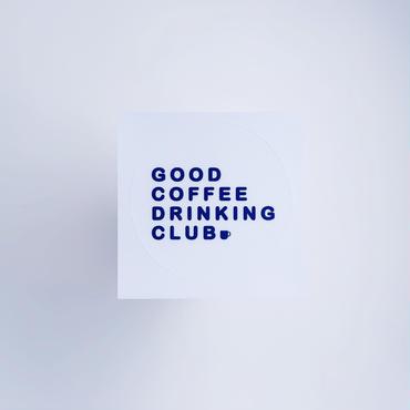 GCDC basic logo sticker_white