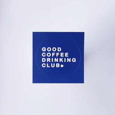 GCDC basic logo sticker_navy
