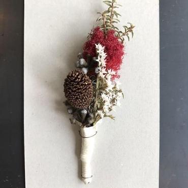 コサージュ 白い花