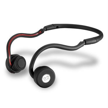 B2 ヘッドフォン(骨伝導)マイク付  Bluetooth4.0ヘッドセット高音質  軽量骨伝導 防水タイプ