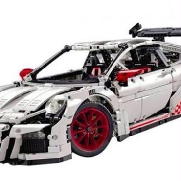 LEPIN  ポルシェ911 GT3 RS 風 ホワイト スポーツカー LEGO互換ブロック