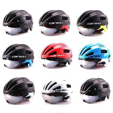 CAIRBULL 自転車 ヘルメット  ゴーグル付き取り外し可能   ロードバイク  超軽量