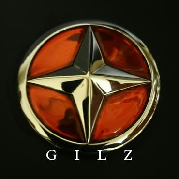 GILZシルバーコンチョ(赤)