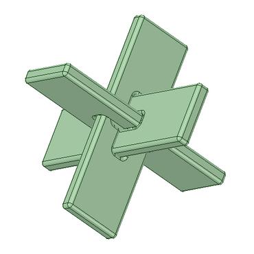 3Dデータ 立体パズル 交差くん1号