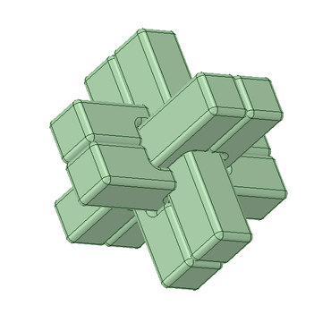 3Dデータ 立体パズル 交差くん2号