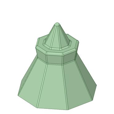 3Dデータ 八角盛り塩型(STL、OBJ、DXF)