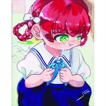 横田紗礼ポストカード10枚セットです「区立アオバ小学校4年2組女の子 」。