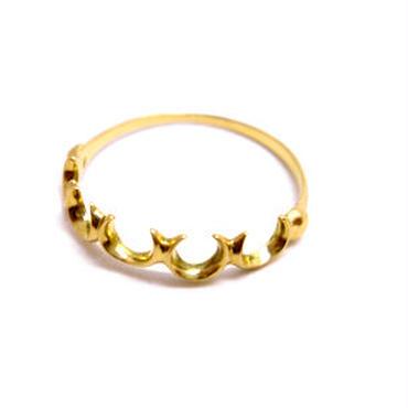 martine 馬蹄 バテイ ゴールドリング/指輪 5つの強力ラッキーアイテム馬蹄でとっても欲張りなゴールドリングです。【K18ゴールド】m023