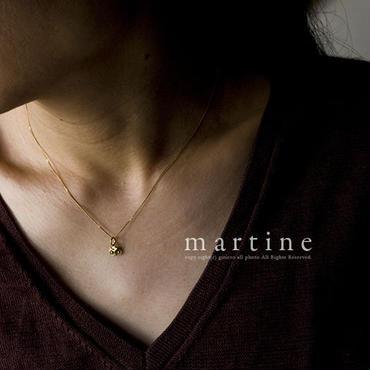 martine 梟/フクロウ チャーム ペンダント ネックレス La Chouette 「Bonhette」(K18ゴールド)m039