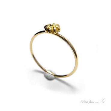 martine 可愛らしい小さなお花のゴールドリング。petitefleur【K18ゴールド】OR071004OR