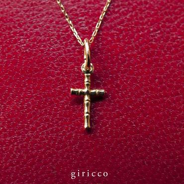 K18 gold ゴールド / bamboo croix charm バンブー クロス ペンダントトップ【m037】