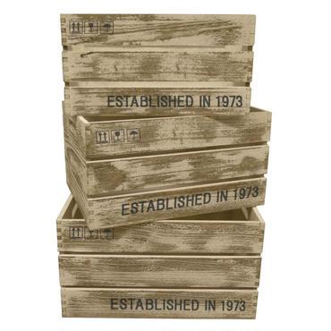 アンティック調ボックス(木箱)3個セット☆ビンテージ☆代引き不可・沖縄、離島は追加500円☆問屋直送品です。