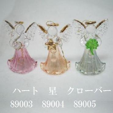 幸運のガラス天使☆ガラスでできた可愛い小さな天使の置き物です♪