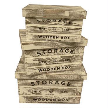 アンティック調ボックス(木箱)3個セット☆ストレージ☆代引き不可・沖縄、離島は追加500円☆問屋直送品です。