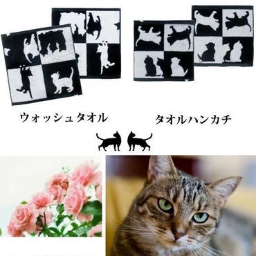 ふわふわ快適♪ネコ(=^・^=)今治タオルハンカチ☆問屋直送品です。