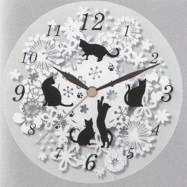 ☆猫(=^▽^=)ガラス時計☆問屋直送品です。