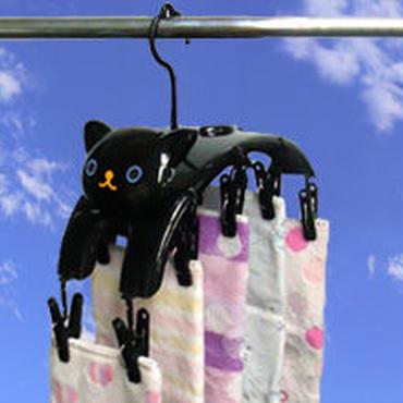 ねこの洗濯ばさみハンガー☆問屋直送品です。