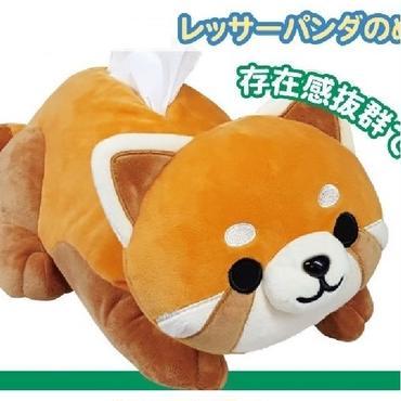 レッサーパンダのぬいぐるみティッシュカバー☆問屋直送品です。