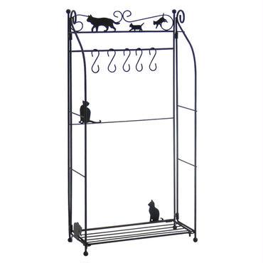 ツールスタンド☆黒猫(キッチンツールやアクセサリー収納に)折畳式☆問屋直送品です。