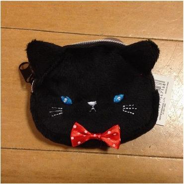 ブサカワ黒猫のファブリック☆ポーチ☆問屋直送品です。
