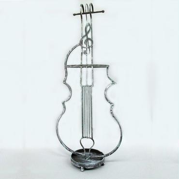 バイオリン傘立て☆アンティーク☆代引き不可・沖縄、離島は追加500円☆問屋直送品です。