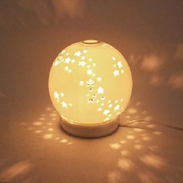 星からもれる灯りがロマンティック♪セラミックアロマ☆ロマンティック☆ライト☆問屋直送品です。