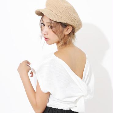 SALE【再入荷】麦わら風ペーパーキャスケット/帽子/ハット