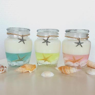 【Handmade】カラフルな海のソイキャンドル