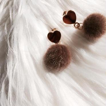 【mocha fur ball】ピアス&イヤリング