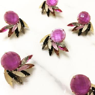 【Purple flowers】ピアス&イヤリング